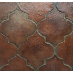 Fleur Handmade terracotta-close up. Sealed the boiled oil and Antique Wax